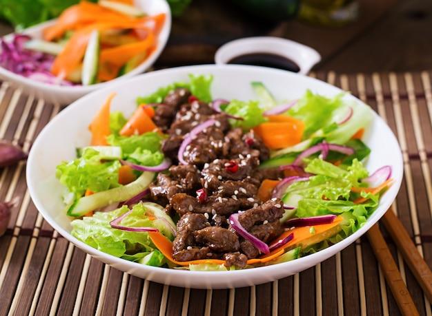 牛肉の照り焼きサラダ