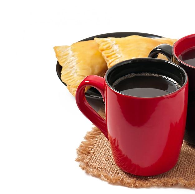 コーヒーとパテの朝食