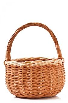 分離された枝編み細工品バスケット