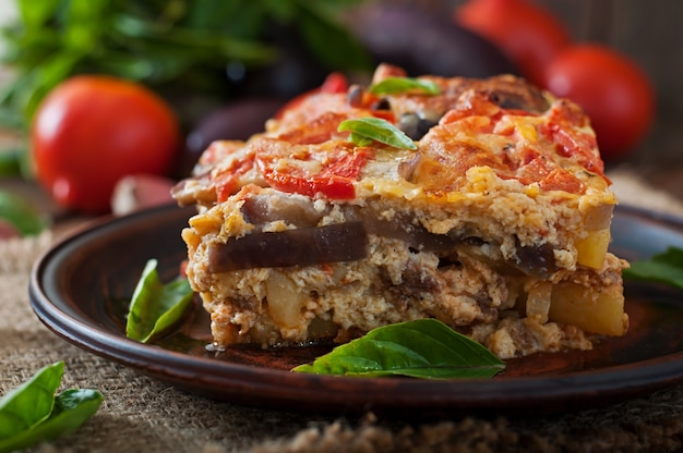 ムサカ-伝統的なギリシャ料理