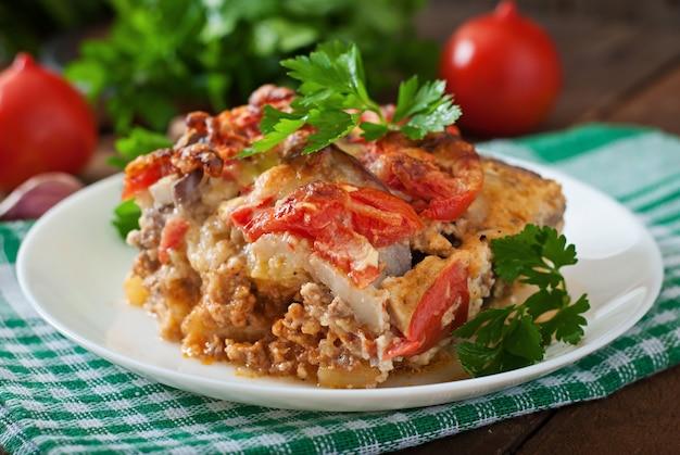 ギリシャのムサカ料理