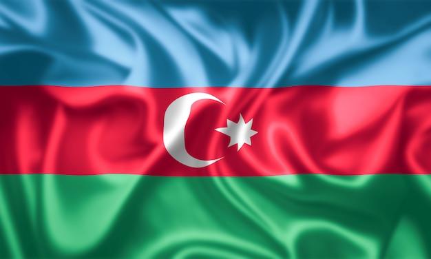アゼルバイジャンの国旗の布の質感