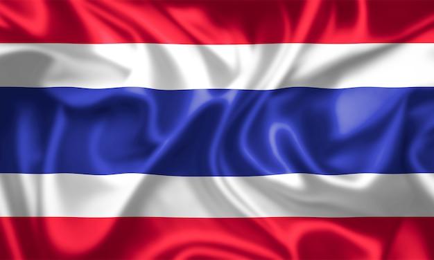 タイの旗の布の質感。