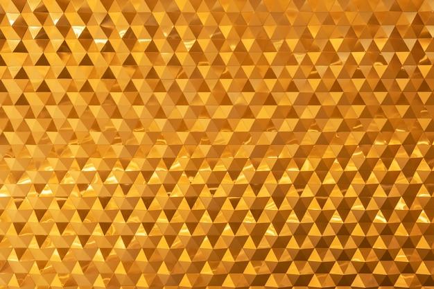 壁に飾られた黄金のレンガからの抽象的な背景。モダンな壁紙