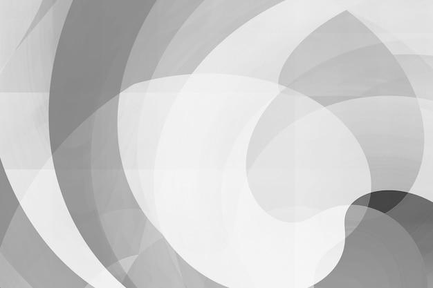 モノクロの混合曲線形状から抽象的な背景。