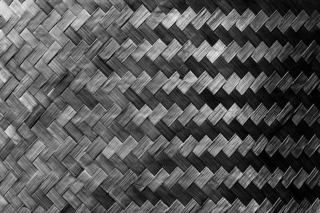 壁に飾られた暗い木製織りから抽象的な背景