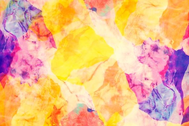 抽象的な背景にカラフルな粘土質のクローズアップ。