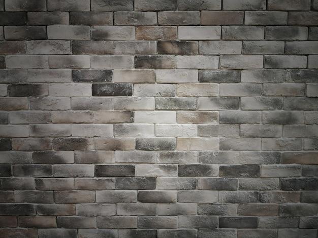 暗いレンガセメントテクスチャ壁の背景