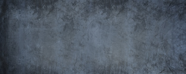 灰色の壁と暗いグランジコンクリート壁紙の壁と水平方向の黒いセメント