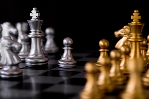 チェスは敵の背景で設定
