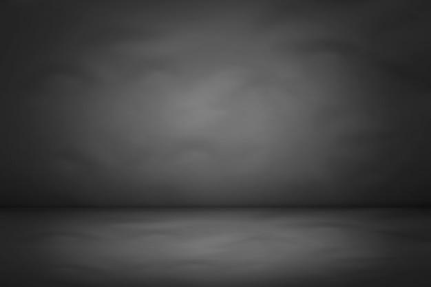 Темная и черная градиентная студия и фон комнаты