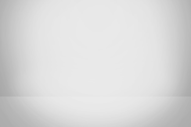 白とグレーのグラデーションの背景、空のスタジオルーム
