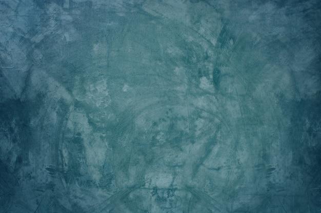 青いセメントの壁と空白の床の背景