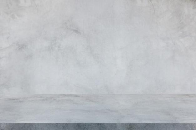 セメントの壁とスタジオの床、インテリアの背景