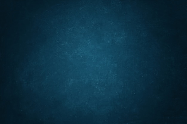 ダークブルーの黒板壁の背景
