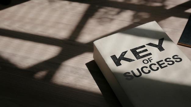 意欲的な言葉 - 「成功の鍵」ぼやけた背景