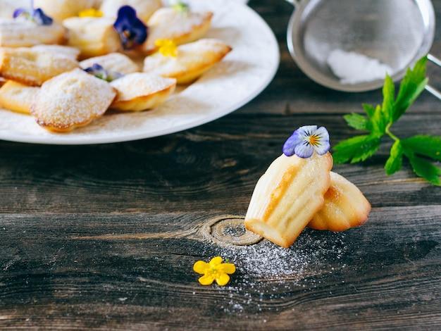 フランスの小さなケーキマドレーヌ