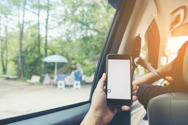 スマートフォン、車、インテリア