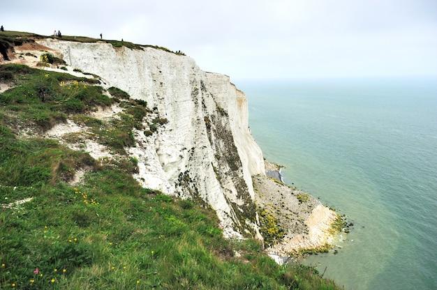 ドーバー、ケント、イングランド、イギリスの白い崖