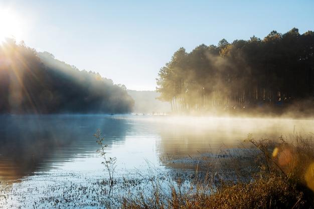 パンオウン貯水池の日の出。