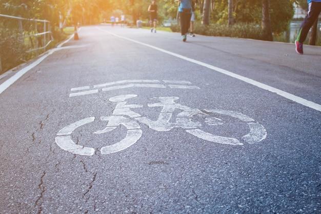 公園の自転車シンボル。
