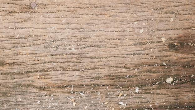 ダストが付いた木目の表面
