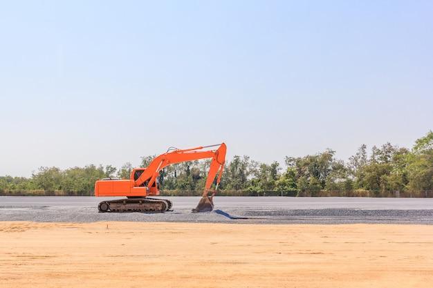 建設現場の建設現場での建設機械の建設機械