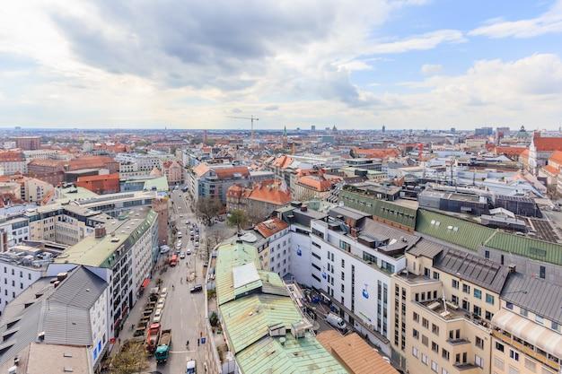 ミュンヘン旧市街、ドイツのサンピエトロ教会から。ドイツ、ミュンヘン
