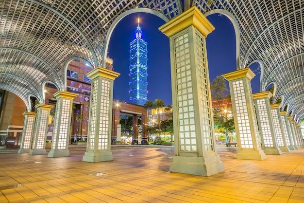東大門モールを一望する