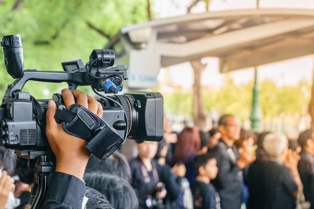 イベント内の写真家のビデオ録画活動