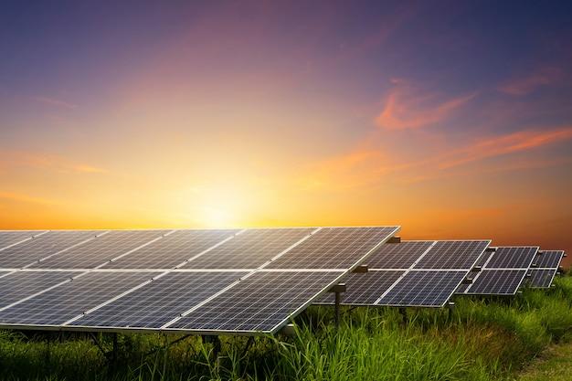 Фотоэлектрические модули солнечной электростанции