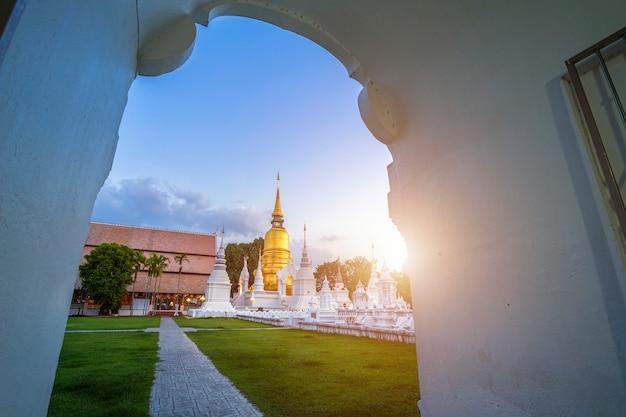 タイの都市の仏教寺院