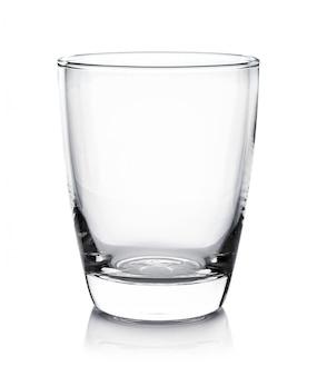 白い壁に空のグラス