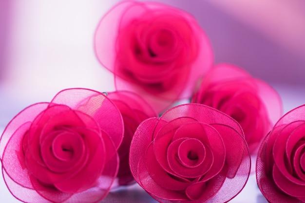 Красочная роза цветы ткань для фона