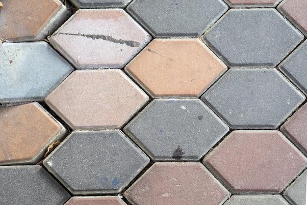 パターンと背景のためのセメント床ブロック。