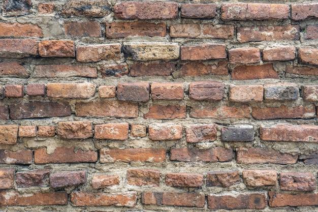 古いビンテージオレンジ色のレンガの壁の背景テクスチャ。