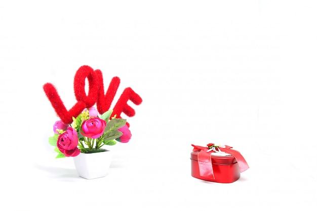 ギフト用の箱との愛のメッセージ