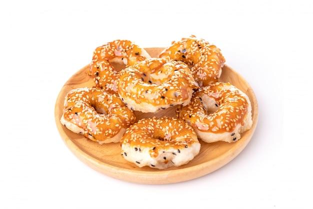 Традиционная тайская местная закуска или десерт, как пончик