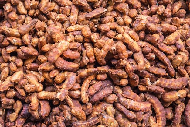テクスチャと食べ物のためのタマリンドの皮