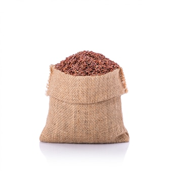 小さな袋にタイの赤いジャスミンライス