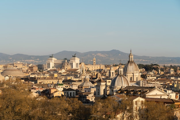ローマ市の空撮