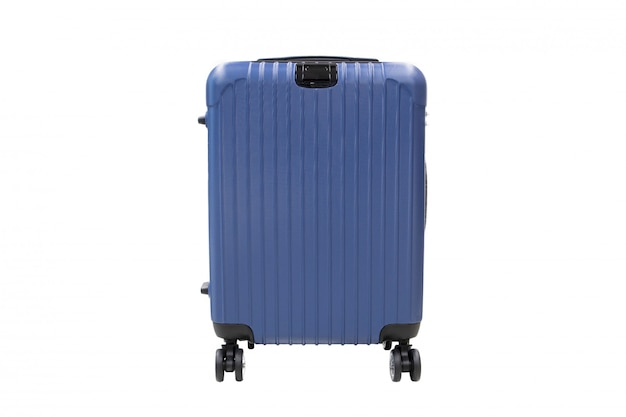 白い背景で隔離された旅行荷物