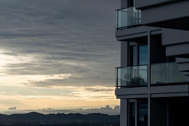 ホテルのバルコニーからの眺め