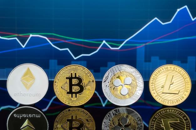 ビットコインと暗号通貨の投資コンセプト。