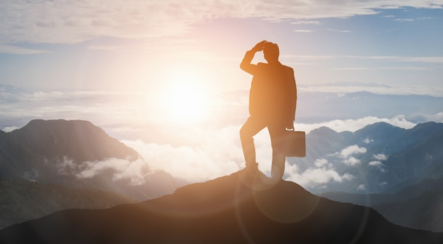 Концепция успеха достижения и цели бизнеса.