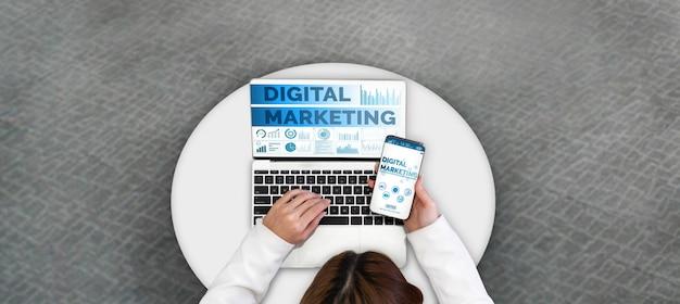 デジタル技術ビジネスコンセプトのマーケティング