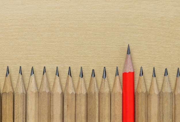 別の鉛筆の傑出したリーダーシップの背景を示しています。