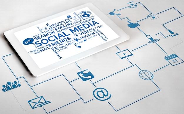 ソーシャルメディアと人々ネットワーク技術コンセプト。