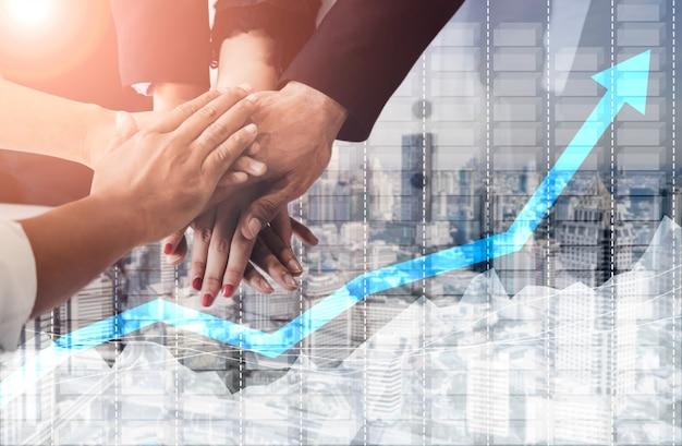 ビジネスと金融の概念のデータ分析