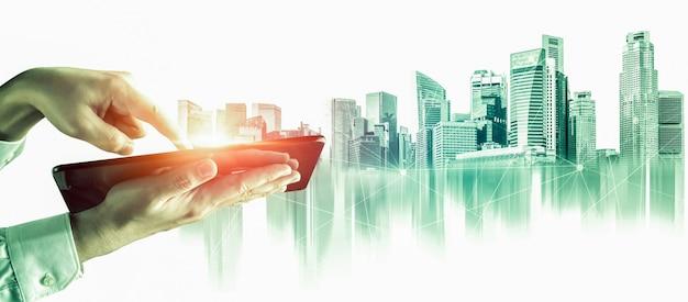 都市のスカイラインの首都圏を抽象化します。